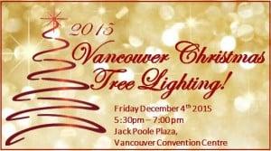 Vancouver Christmas tree lighting 2015